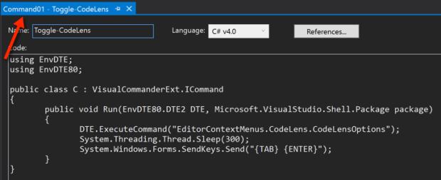 Toggling Visual Studio CodeLens On/Off | Claudio Lassala's Blog