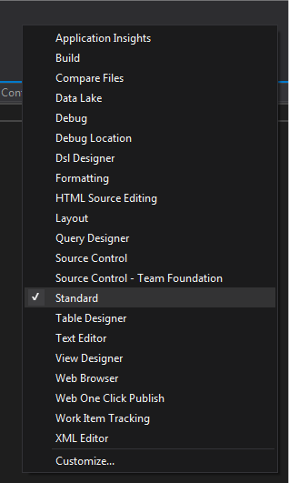 Visual Studio: Who uses the Standard Toolbar? | Claudio